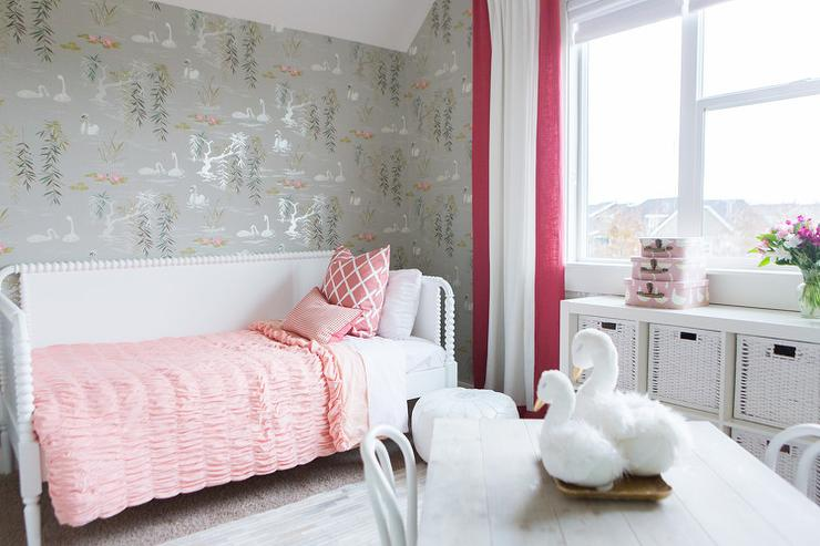 pink-and-gray-kids-bedroom-ikea-kallax-shelving-unit-faux-fur-swans